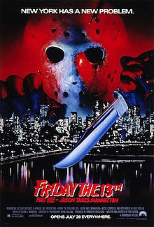 Friday the 13th Part VIII - Jason Takes Manhattan (1989) theatrical poster.jpg