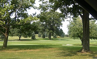 Bloomington, Illinois - The golf course at the Bloomington Country Club