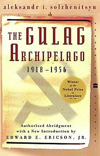 <i>The Gulag Archipelago</i> book by Aleksandr Solzhenitsyn