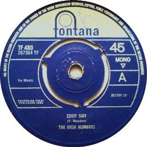 Zoot Suit/I'm the Face - Image: High numbers side a zoot suit