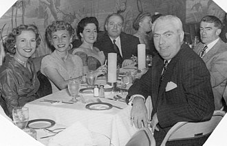 Lynne Roberts - Lynne Roberts (left), Sally Naiditch, Anne T. Hill (3rd from left), Dr. Leon W. Naiditch, Hyman B. Samuels (front right), Dr. Harry Lehrer (extreme right behind Samuels)