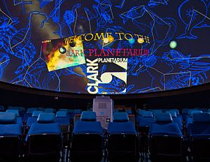 Shawnee State University - Clark Planetarium interior with actual projection.