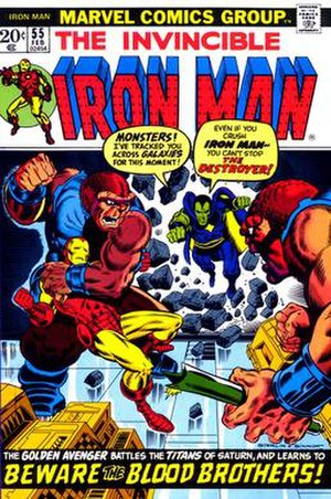 Blood Brothers (comics) - Image: Iron Man v 1 055 00