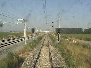 Istanbul–Ankara railway - The line runs parallel with the high-speed line several times.