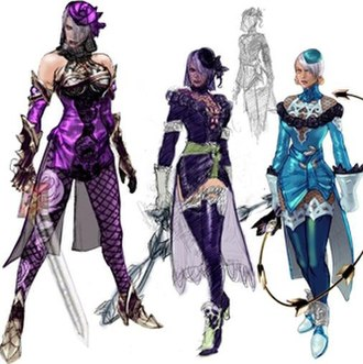 Ivy Valentine - Ivy's secondary designs contrast against her default appearance