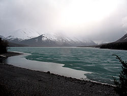 The Kenai River, partly frozen, April 2007