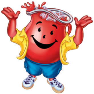 Kool-Aid Man - The CGI version of the Kool-Aid Man, as he appears as of 2008 with clothes