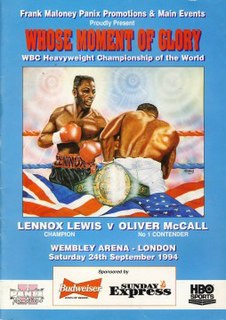 Lennox Lewis vs. Oliver McCall Boxing competition