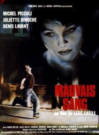 Mauvais Sang - Movie Poster ©AAA Classics 1986