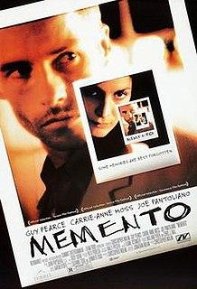 <i>Memento</i> (film) 2000 film by Christopher Nolan