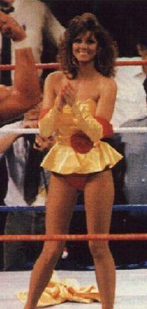 SummerSlam (1988) - Miss Elizabeth celebrated the Mega Powers' win, after removing her skirt to show her panties to distract the Mega Bucks.