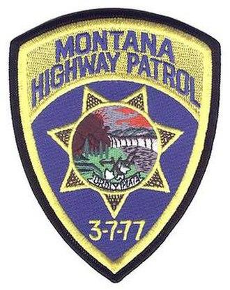 3-7-77 - Montana Highway Patrol patch