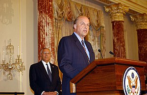 Rescue of Giuliana Sgrena - John Negroponte, then US ambassador in Iraq. His car convoy was the reason for the placement of blocking point 541.