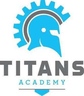 Plano ISD Academy High School - The logo of the school, depicting a helmet worn by Greek warriors
