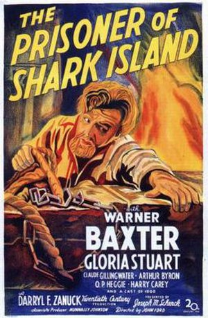 The Prisoner of Shark Island - film poster by Joseph A. Maturo