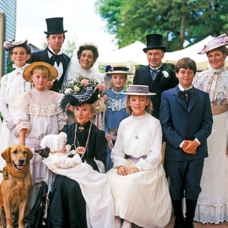 Road to Avonlea - Major characters in the series (from left to right): Hetty King, Jasper Dale, Olivia King, Sara Stanley, Alec King, Felix King, Janet King, Cecily King, Eliza Ward and Felicity King