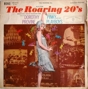 The Roaring 20's (TV series) - Front cover of the 1960 WBS soundtrack album