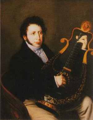 Robert Wornum - Robert Wornum (1780 - 1852). The lyre guitar (c.1810) in the portrait is part of the Steve Howe Guitar Collection.