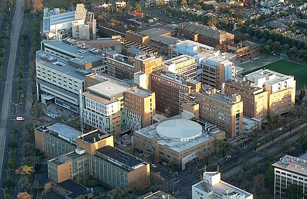Aerial view of Royal Melbourne Hospital in Parkville Royal melbourne hospital.jpg