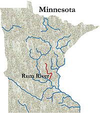 Princeton Minnesota Map.Rum River Wikipedia