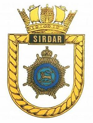 HMS Sirdar (P226) - Image: SIRDAR badge 1
