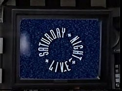 The title card for the seventeenth season of Saturday Night Live.