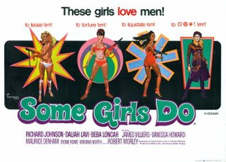 Some Girls Do - UK cinema quad poster