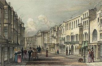 History of Southampton - Southampton High Street in 1839.