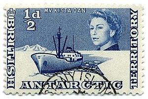 British Antarctic Territory - 1963 British Antarctic Territory half-penny stamp.