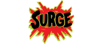 Surge (drink) - Original and second logo
