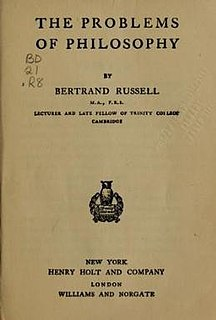 <i>The Problems of Philosophy</i> 1912 book by Bertrand Russell