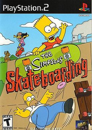 The Simpsons Skateboarding - North American PlayStation 2 cover art