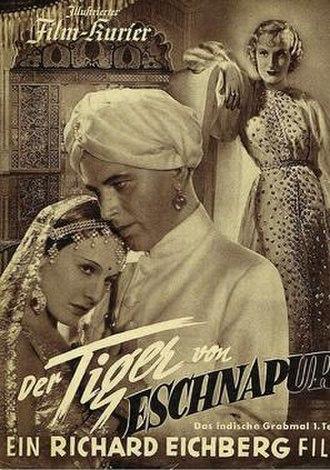 The Tiger of Eschnapur (1938 film) - Film poster