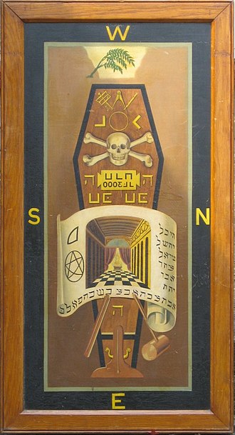 Masonic ritual and symbolism - A Third Degree tracing board