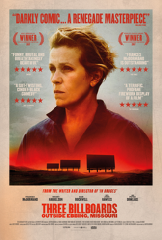 Three Billboards Outside Ebbing, Missouri - Theatrical release poster