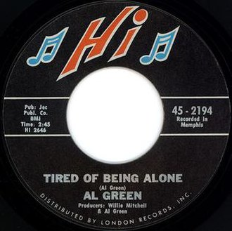 Tired of Being Alone - Image: Tired of Being Alone single