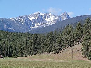 Bitterroot Mountains - Another view of Trapper Peak, from US 93