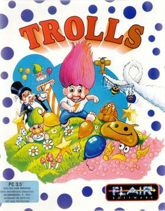 Trolls (video game) - DOS Cover art