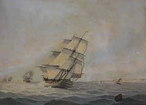 Samuel Atkins - Image: Unidentified Royal Navy frigate or sloop of war