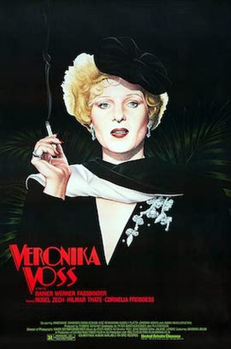 Veronika Voss - Theatrical release poster by Vincent Topazio