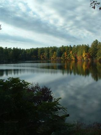 Sebbins Pond - Looking towards Camp Kettleford in the fall