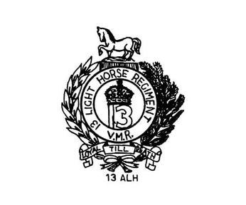 13th light horse badge