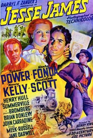 Jesse James (1939 film) - Jesse James movie poster