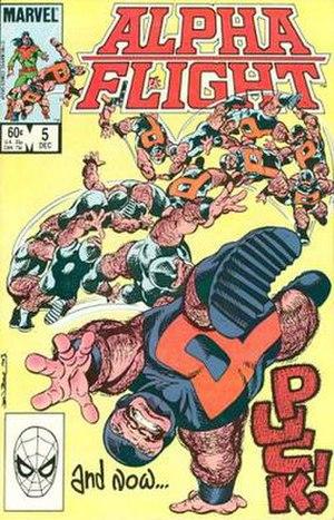 Puck (Marvel Comics) - Image: Alphaflight 5