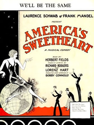 America's Sweetheart (musical) - Sheet Music Cover (cropped)