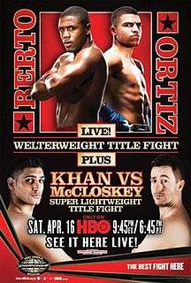 Andre Berto vs. Victor Ortiz Boxing competition