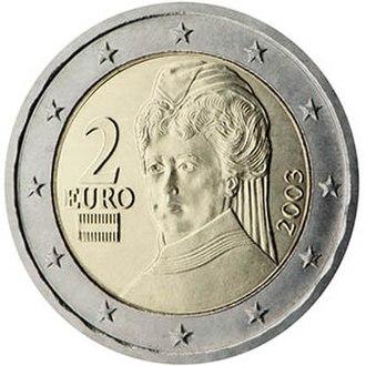 Austrian euro coins - Image: Austria two Euro coin