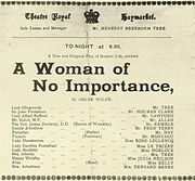 A Woman of No Importance program from 1930