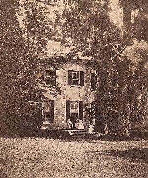 Bellevue Mansion - Bellevue Mansion in 1858