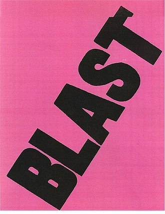 1914 in poetry - The cover of the first edition of the literary magazine BLAST